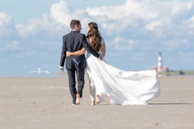 Westerhever leuchtturm Brautkleid